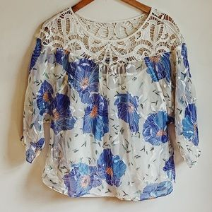 Urban Outfitters Crochet Floral Top
